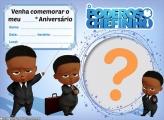 Convite Poderoso Chefinho Moreno