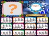 Calendário 2022 Papai Noel Azul Virtual Online