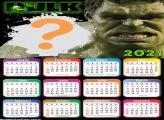Calendário 2021 O Incrível Hulk Montagem de Foto
