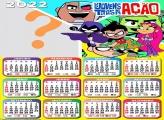 Calendário 2022 Os Jovens Titãs em Ação Editar Grátis