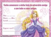 Convite Aniversário da Rapunzel