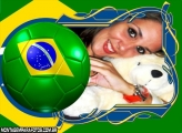 Moldura Bola de Futebol Brasil