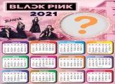 Montagem de Fotos Calendário 2021 do Black Pink