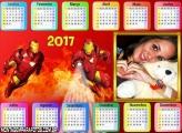 Calendário 2017 Horizontal Homem Aranha