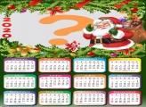 Colagem de Foto Calendário 2020 do Papai Noel