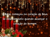 O Natal começou no coração de Deus