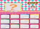 Moldura Online Calendário 2020 Menina do Circo