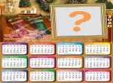 Calendário 2020 Luz do Natal Moldura Digital
