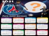 Calendário 2021 Paris Saint Germain com Neymar