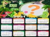 Calendário 2021 Dinosauro Baby Infantil