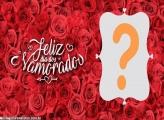 Moldura Cheia de Rosas Vermelhas para Namorados