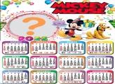 Calendário 2022 Mickey Mouse Montar Foto