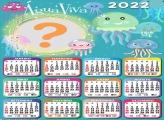 Calendário 2022 Água Viva Colagem de Foto