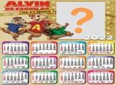 Colagem Grátis Calendário 2022 Alvin e os Esquilos
