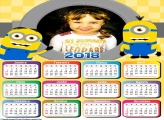 Calendário 2018 Minions Cut Festa