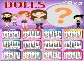 Calendário 2022 Dolls Moldura Fotos Online