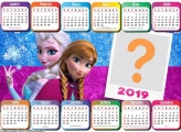 Calendário 2019 Elsa Frozen e Anna Frozen