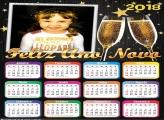 Calendário 2018 Feliz Ano Novo