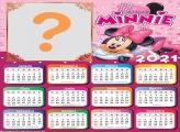 Calendário 2021 Minnie com Vestido Cor de  Rosa