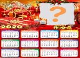 Calendário 2020 Colagem de Foto de Natal