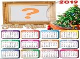 Calendário 2019 Bola de Vidro Árvore de Natal