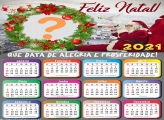 Calendário 2021 Montagem de Foto Feliz Natal