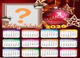 Calendário 2020 Foto Moldura Digital Feliz Natal