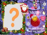 Máscara Digital Feliz Natal que Deus ilumine sua família