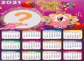 Calendário 2021 Candy Crush Montagem Fotos
