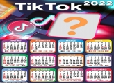 Calendário 2022 Colagem de Foto TikTok Online