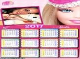 Calendário 2017 Barbie Amigas Secretas