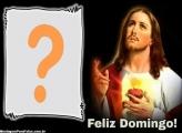 Moldura Jesus Cristo Feliz Domingo