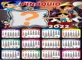 Calendário 2022 Pinóquio Criar Online