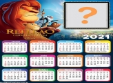 Calendário 2021 Rei Leão Colagem de Foto