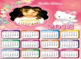 Calendário 2018 Hello Kitty Infantil