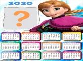 Calendário 2020 Princesa Anna Frozen