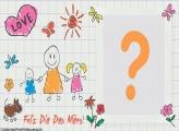 Desenho Família Dia das Mães
