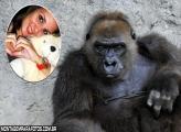 Moldura Chimpanzé Preto