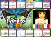 Calendário 2018 Jogo Angry Birds Horizontal