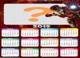 Calendário 2019 Homem de Ferro