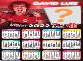 Calendário 2022 Flamengo Davi Luiz Montagem Foto