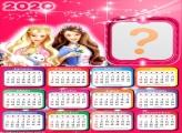 Moldura Online Calendário 2020 Amiga Barbie