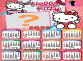 Calendário 2022 para Meninas Hello Kitty