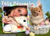 Feliz Páscoa com Cachorrinho