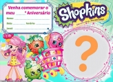 Convite Shopkins