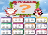 Calendário Infantil 2021 de Papai Noel