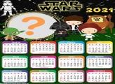 Calendário 2021 Star Wars Cute App para Montagem de Foto