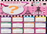Calendário 2021 Tema Fashion Foto Montagem