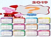 Calendário 2019 Peppa Pig Feliz Natal