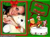 Feliz Natal Pooh Ceia Moldura